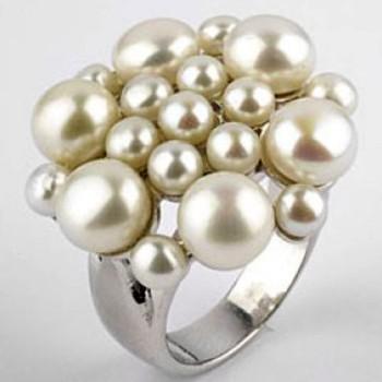 Кольцо с жемчужиной своими руками 3